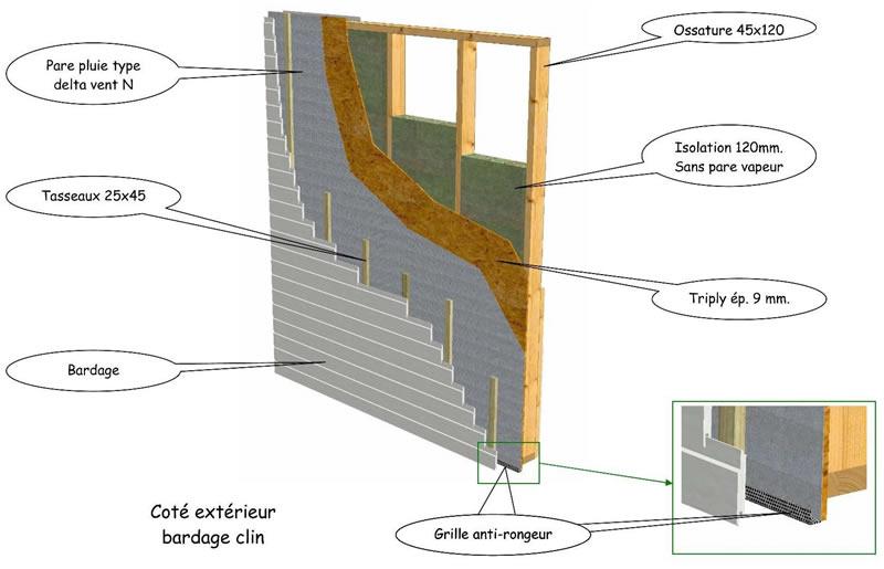 isolation ossature bois mur